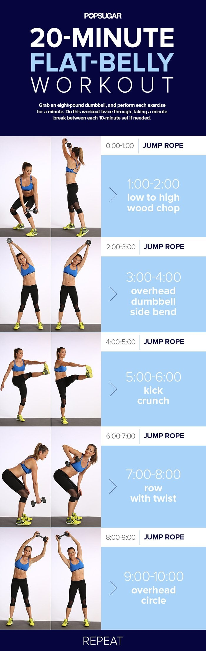 Day 6: 20-Minute Flat-Belly Workout