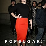 Daisy Lowe attended the H&M fashion show on Wednesday.