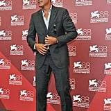 George Clooney at The Ides of March photo call.