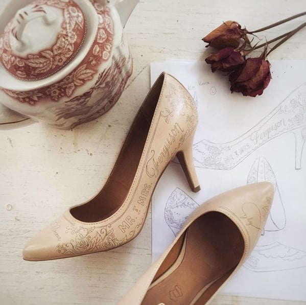 These Custom Wedding Shoes Will Make You Swoon