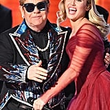 Pictured: Elton John and Miley Cyrus