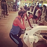 Ellie Goulding was multitasking at the gym.