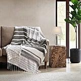 Shag Throw Blanket in Grey