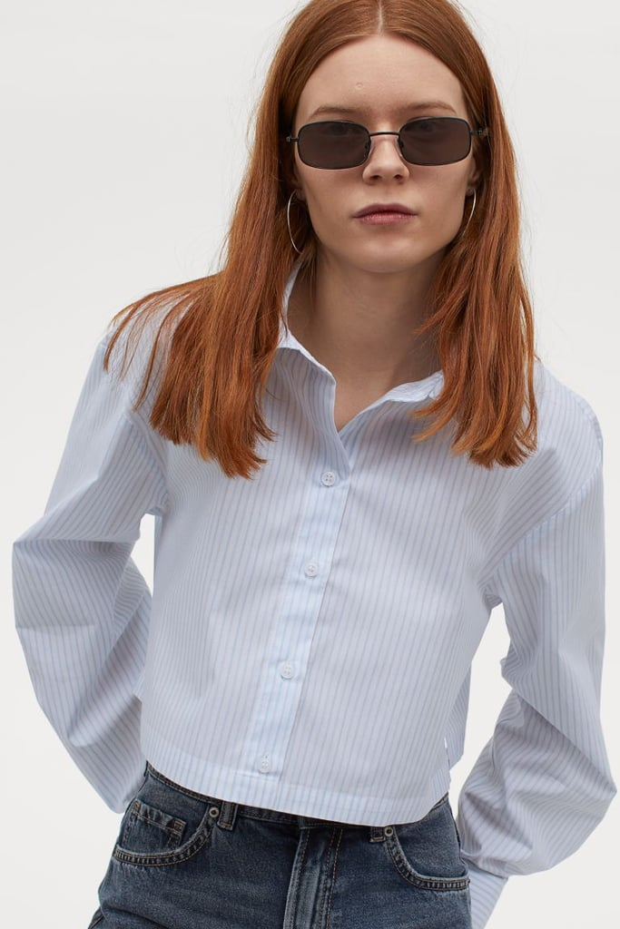 H&M Cotton Crop Shirt