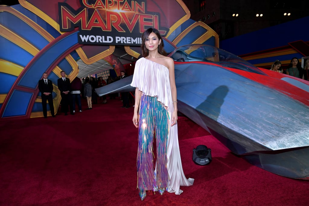 Gemma Chan Wore the Pants Version of Taylor Swift's Oscars Afterparty Dress, and OMG