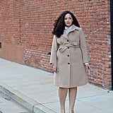 A Prim and Proper Wool Coat With T-Strap Pumps