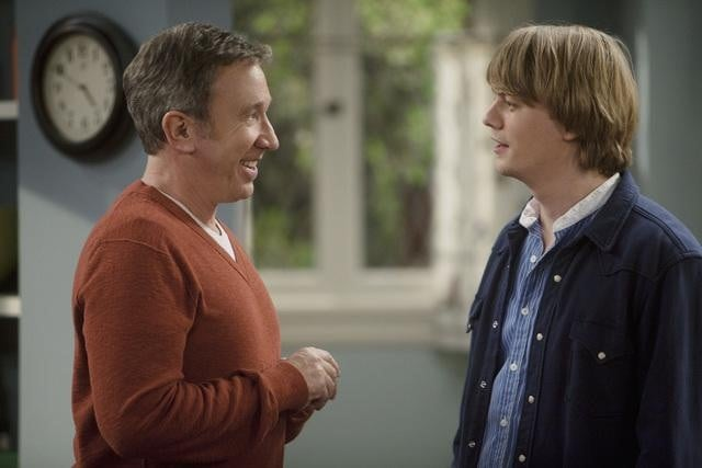 Christoph Sanders and Tim Allen in ABC's Last Man Standing.
