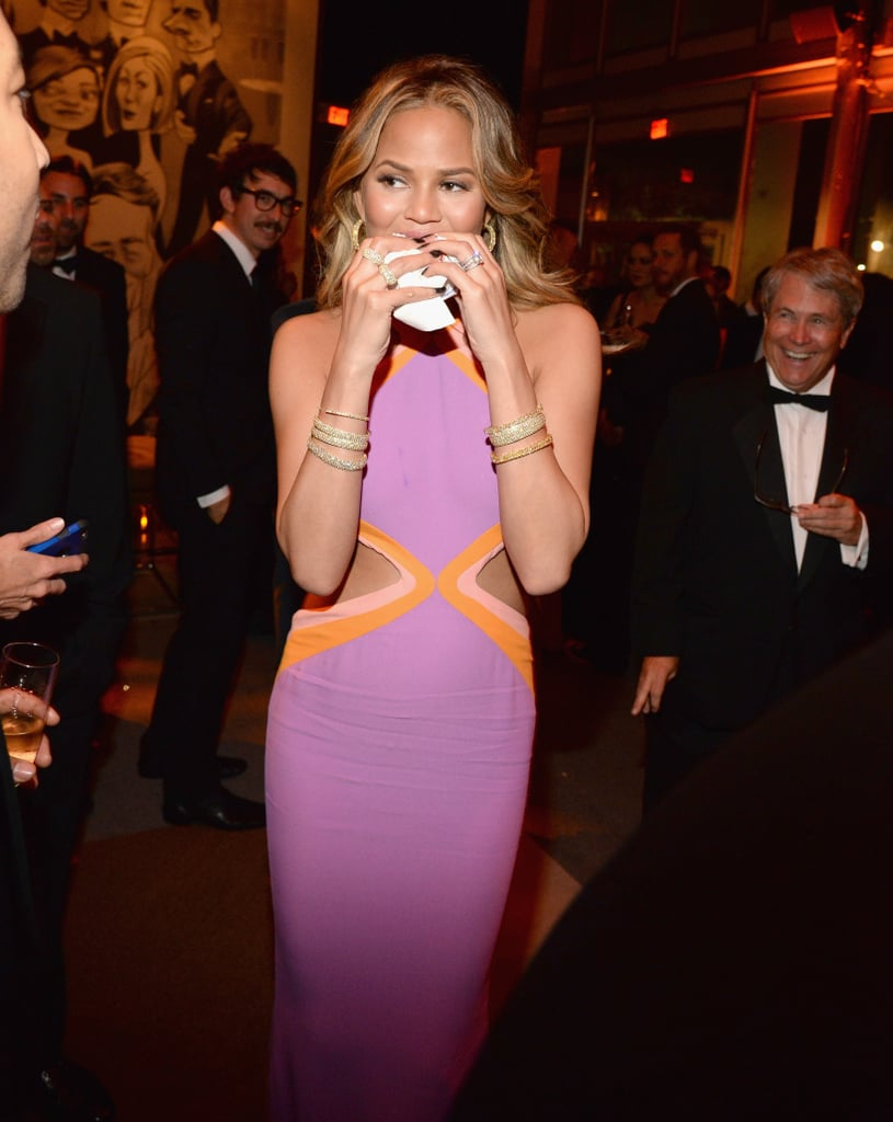 It's the Oscars, and Chrissy Teigen Will Eat a Burger If She Wants to, OK?