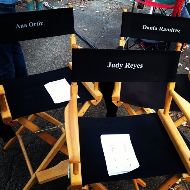 Dania Ramirez showed off the set chairs on Devious Maids. Source: Instagram user markofthebeast