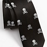 Silk Skull and Crossbones Tie