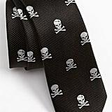 Silk Skull and Crossbones Tie
