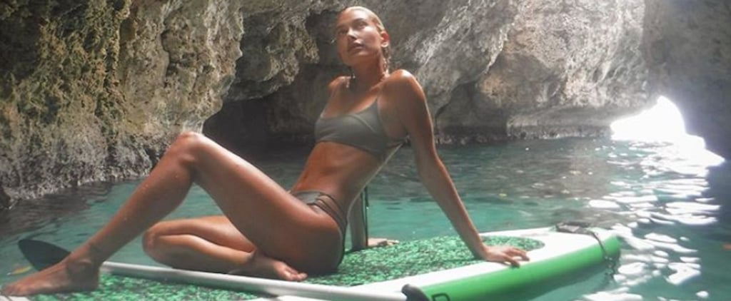 Hailey Baldwin's Olive Bikini Is the Secret Weapon Swimsuit We All Need