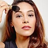 Set your makeup with micro powder.