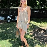 Nothing looked more diaphanous than Kara's nude Free People dress.