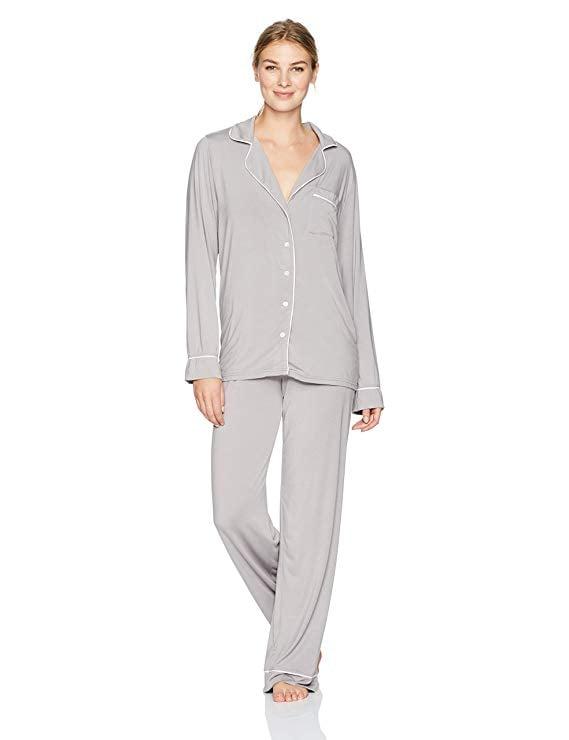 Barefoot Dreams Jersey Piped Pajama Set