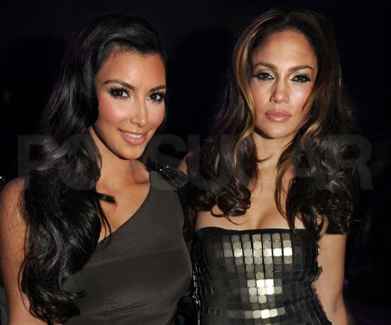 Slide Photo of Kim Kardashian and Jennifer Lopez Posing Together at Fresh Out the Oven Party