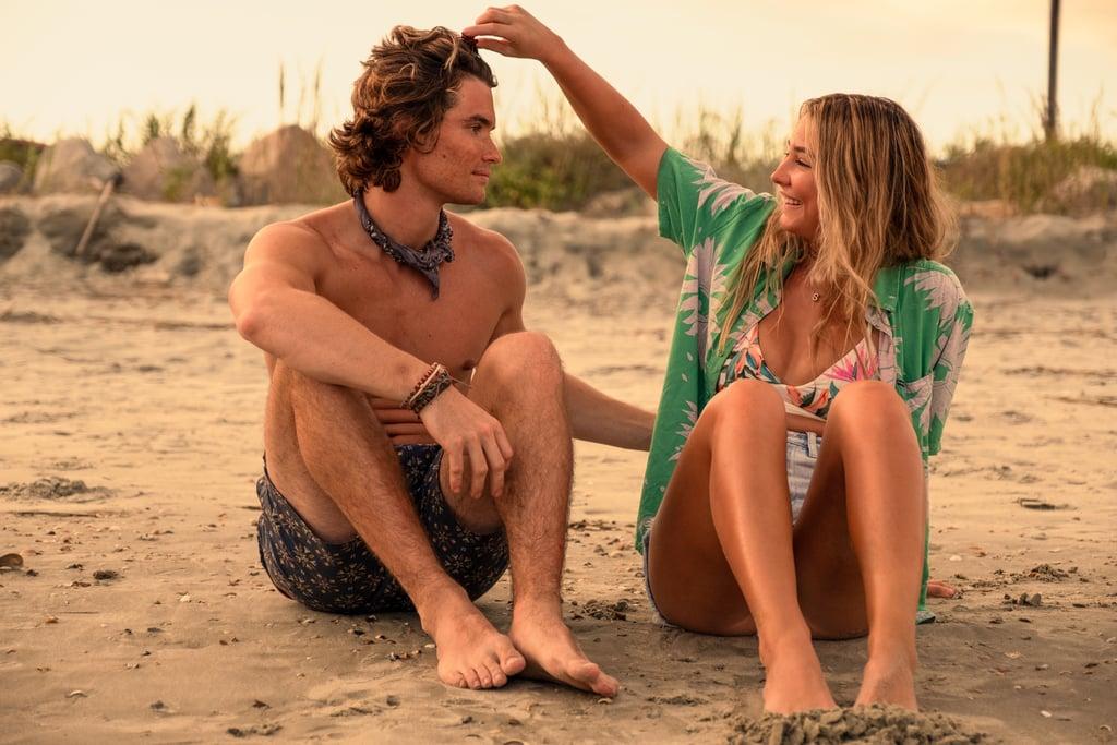 Sarah Cameron's Green Hawaiian Shirt and Floral Bikini on Outer Banks Season 2