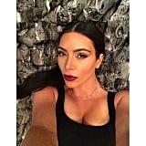 Kim Kardashian took a selfie before bed. Source: Instagram user kimkardashian
