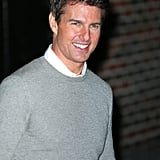 Tom Cruise smiled for the photographers.