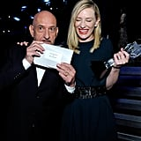 Sir Ben Kingsley and Cate Blanchett got excited about Cate's win for Blue Jasmine.