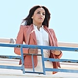 Eva Longoria had a photo shoot on the top of a hotel at the Cannes Film Festival.