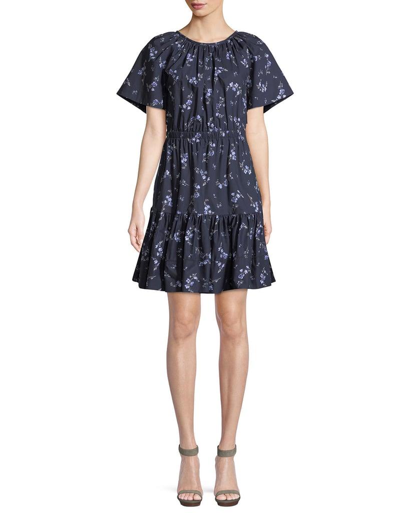 Rebecca Taylor Francine Floral-Print Cotton Dress