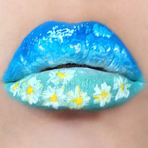 This Spring-inspired lipstick look is on another level of beautiful. Source: Instagram user inkxicated