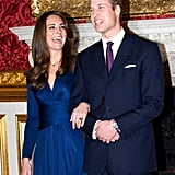 Kate Accessorized Her Look With a Delicate Sapphire Necklace