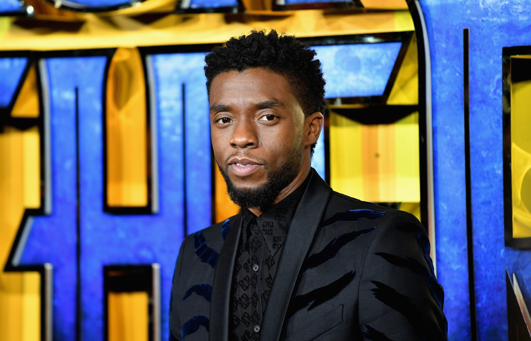 LONDON, ENGLAND - FEBRUARY 08:  Chadwick Boseman attends the European Premiere of Marvel Studios'