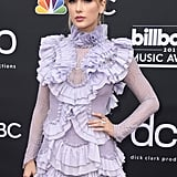 Taylor Swift Wearing a Lavender Ruffled Minidress at the 2019 Billboard Music Awards