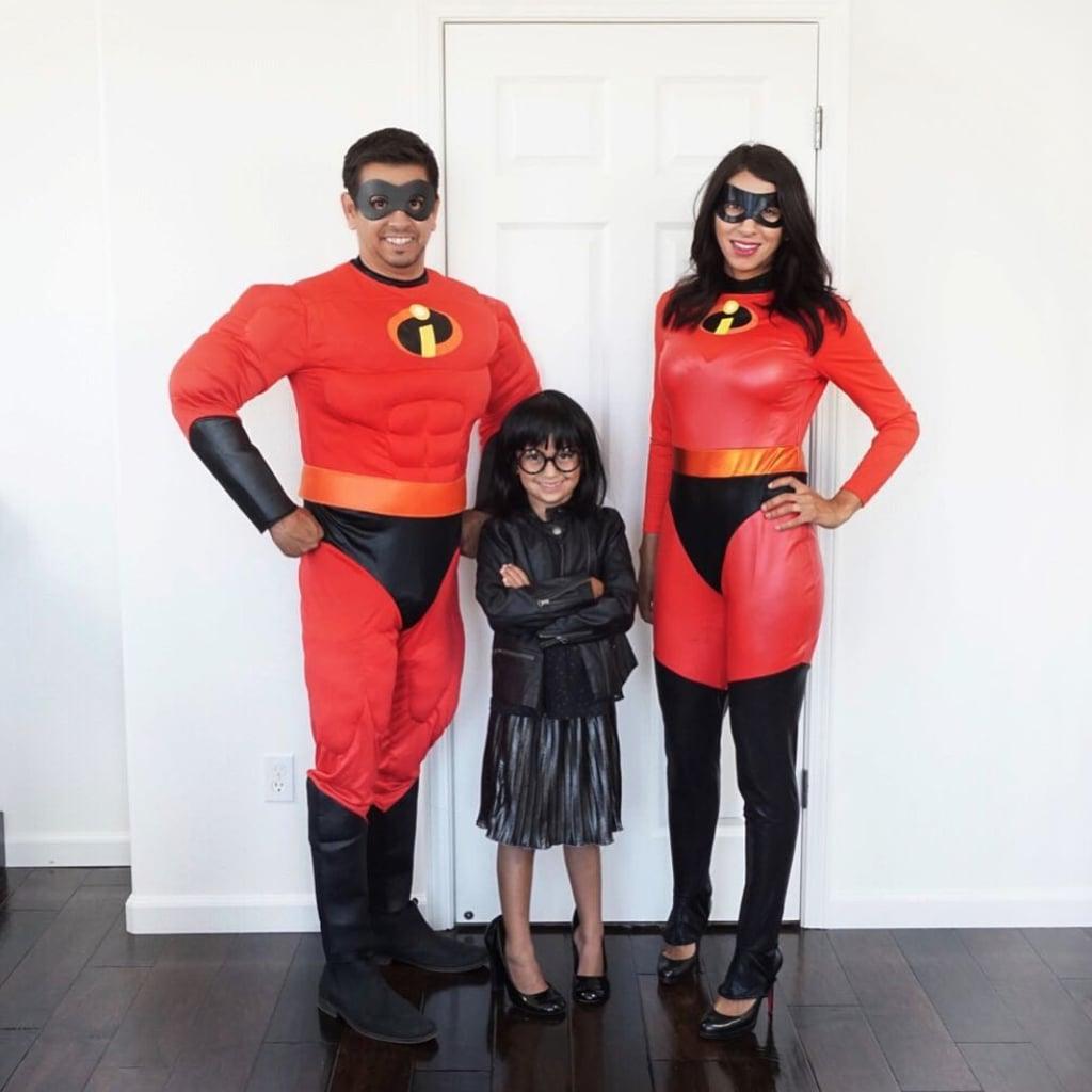 Mr. Incredible, Elastigirl, and Edna Mode