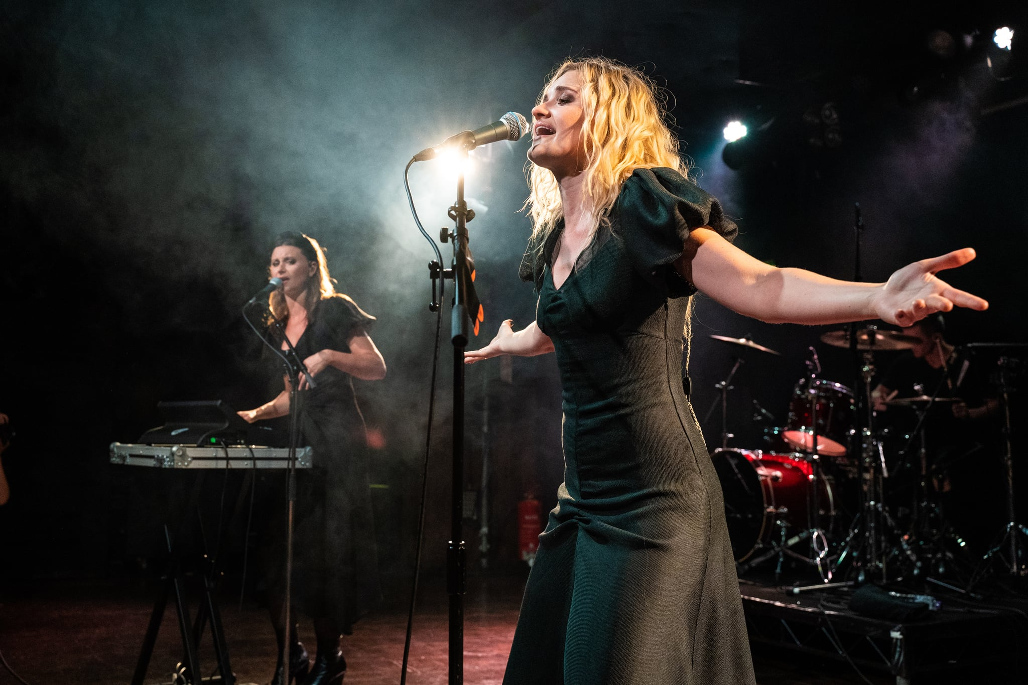 LONDON, ENGLAND - JULY 11: Aly and AJ perform at Scala on July 11, 2019 in London, England. (Photo by Lorne Thomson/Redferns)