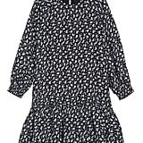 Something Navy Ruffle High/Low Dress - Girls
