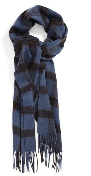 Nordstrom Plaid Stripe Wool Scarf ($50)