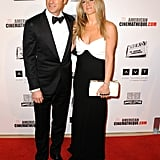 Jennifer Aniston and Justin Theorux posed for photos at the event.