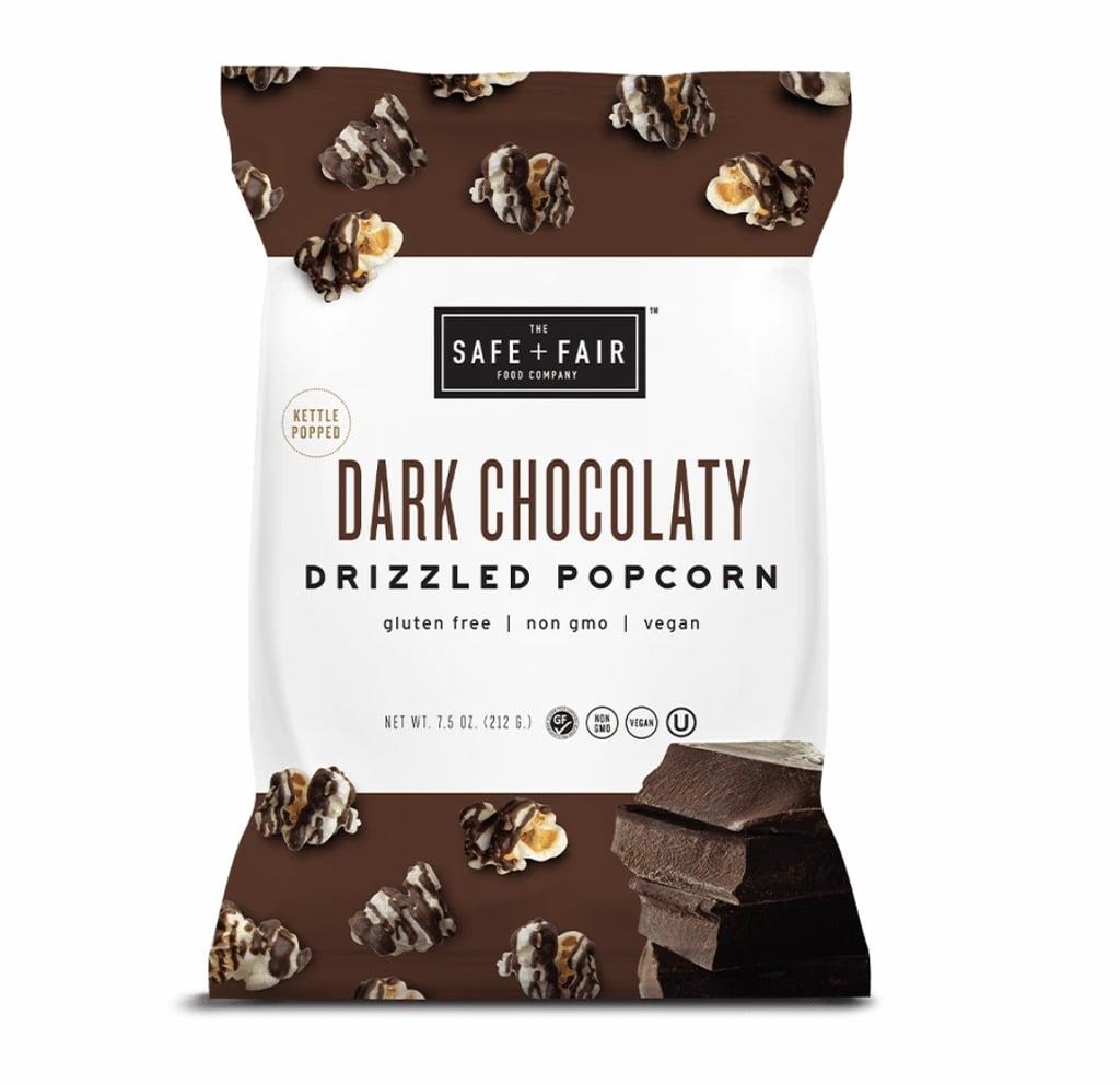 Dark Chocolaty Drizzled Popcorn