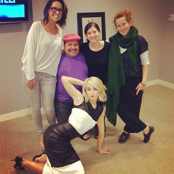 Julianne Hough got silly during a visit to Chelsea Lately. Source: Instagram user juleshough
