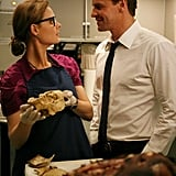 "On the TV show Bones, pop culture references are often lost on forensic anthropologist Dr. Temperance Brennan, so she misses the sexy librarian reference Seeley Booth makes in the following exchange from ""The Passenger in the Oven"": Booth: ""What I want you to do is take off your glasses, shake out your hair, and say, 'Mr. Booth, do you know what the penalty is for an overdue book?'"" Bones: ""Why?"" Booth: ""Never mind."""