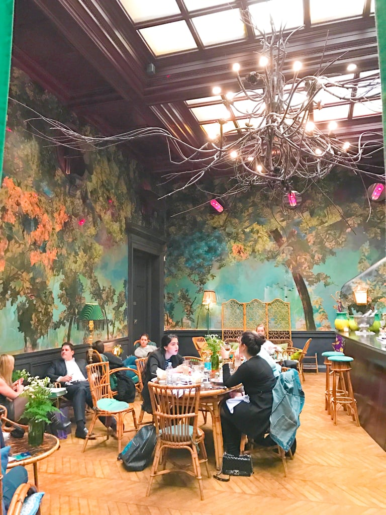 "The Gallery is only one component of Sketch, each room has a different dining experience and impeccably designed aesthetic. For instance, the Glade, pictured here, has an ""enchanted fairy-tale forest"" theme and offers breakfast, afternoon tea, comfort food, and evening cocktails. Altogether there are five restaurants and bars."