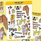 Beyoncé Sticker Sheet