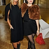 Sadie Frost and Meg Mathews following James Small's show.