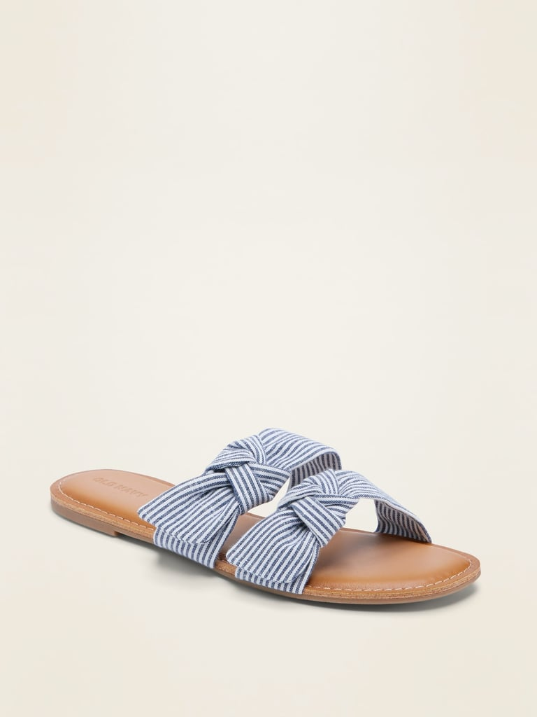 Old Navy Asymmetric Double-Bow Slide Sandals