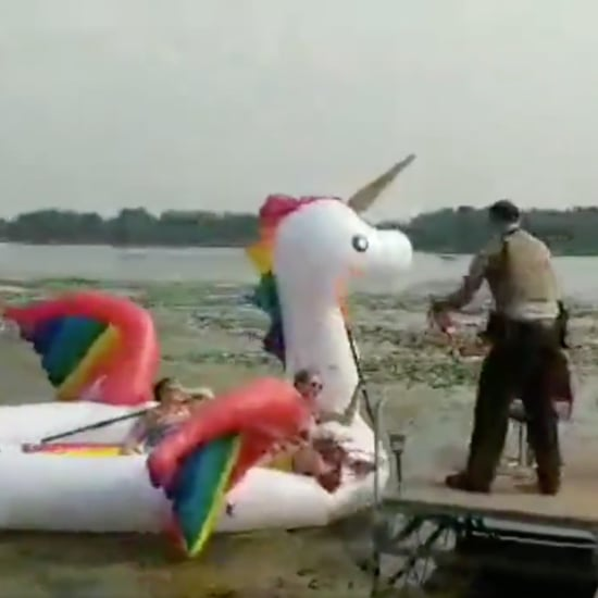 Women Get Stranded in Lake on Unicorn Pool Float