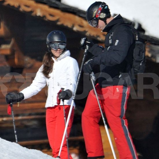 Pictures of Kate Middleton and Prince William Skiing