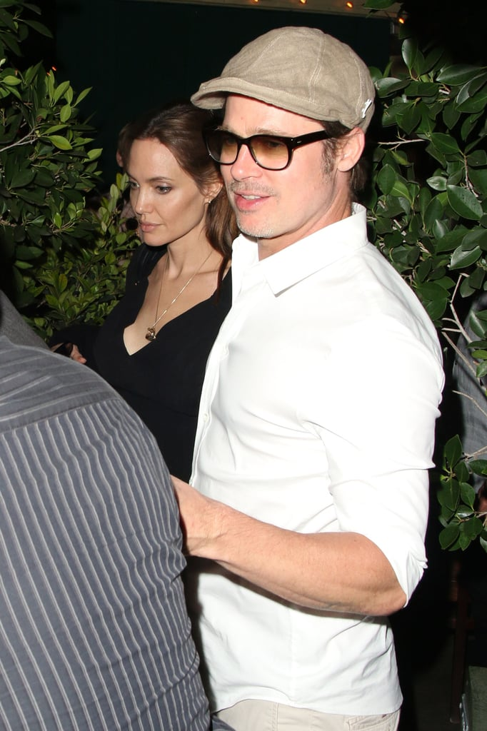 Brad Pitt and Angelina Jolie left the Ago Restaurant after a date night in LA on Saturday.