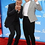 Taylor Hicks goofed off with Psy on the red carpet.