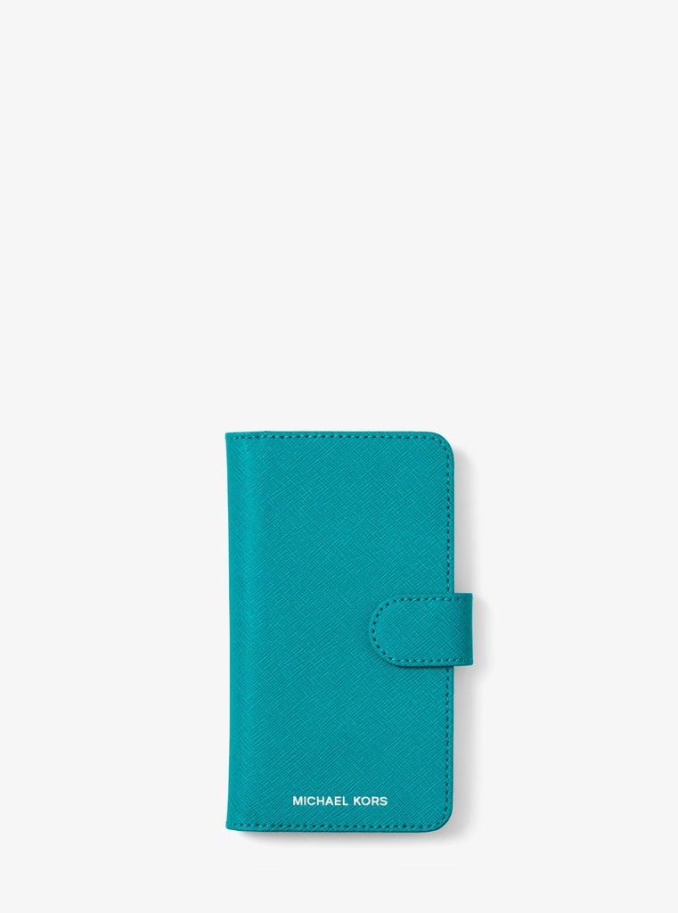 dbe9505e88a1 MICHAEL Michael Kors Saffiano Leather Folio Case For iPhone X