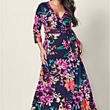 Venus Plus Size Floral Print Maxi Dress