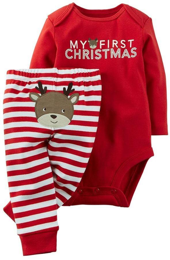 Carter S Baby Quot My First Christmas Quot Bodysuit Amp Pants Set