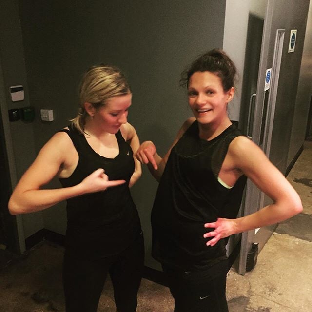 Ellie Goulding was totally inspired by the six-months-pregnant Barry's Bootcamp master trainer.